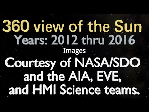 The light wizzard 360 view of the sun from 2012 thru 2016