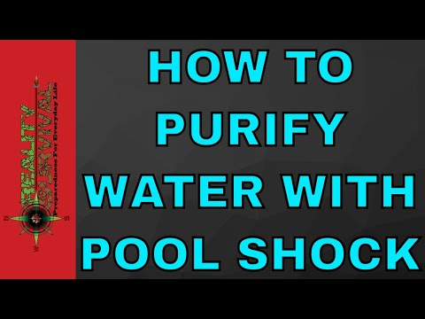 How to purify water with pool shock