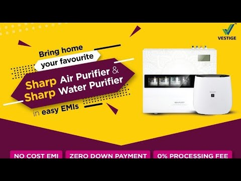 How to purchase sharp air purifier or water purifier on easy emi by vestige