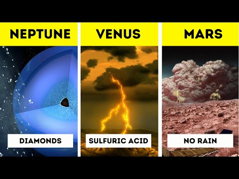 Rains on different planets!