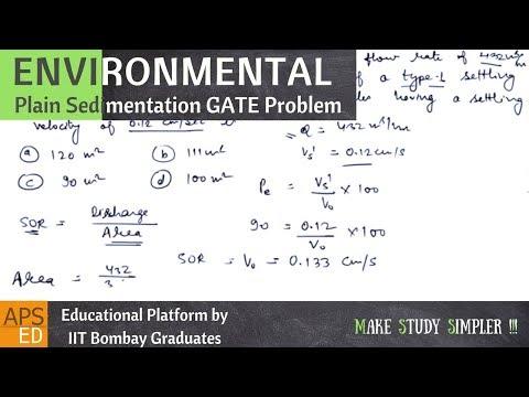 Plain sedimentation gate solved example   environmental engineering