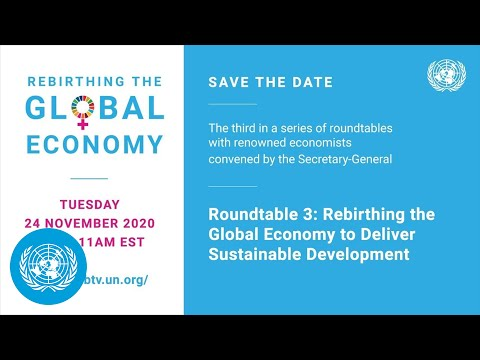 Rebirthing the global economy to deliver sustainable development - roundtable, 23 november 2020