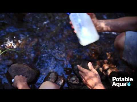 Potable aqua® drinking water germicidal tablets-how to