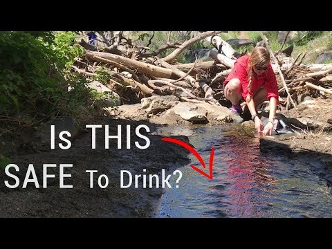 Water purification and filtration on the trail