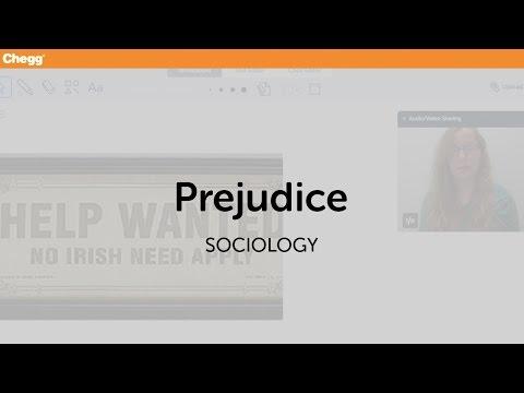 Prejudice | sociology | chegg tutors