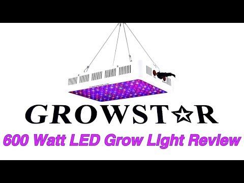 Review: growstar 600 watt led grow light / hydroponic basil