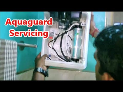 How to service aquaguard water purifier by an expert / easy cleaning aquaguard magna uv