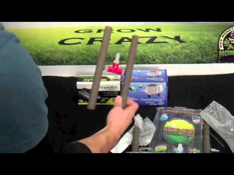 Micro pore oxygenator air stones - product review | best air stone for hydroponics compost tea