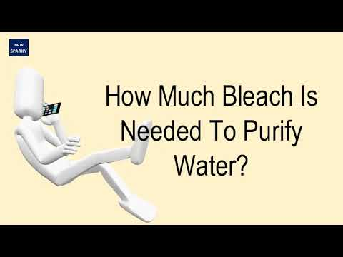 How much bleach is needed to purify water?