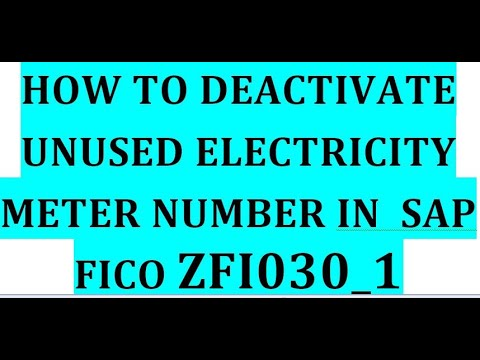 How to deactivate or delete electricity meter number in sap fico i delete electricity meter zfi030_1
