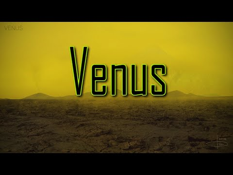 A flight over the surface of planet venus