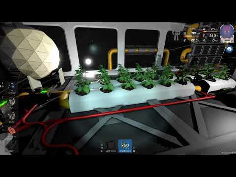 Stationeers - hydroponics tray setup