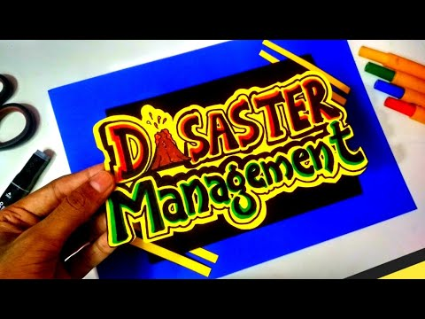 Disaster management | how to write disaster management in decorative style | decorative project file