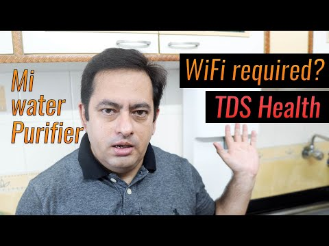 Xiaomi mi water purifier q&a - wifi required, low tds bad for health, sound high?