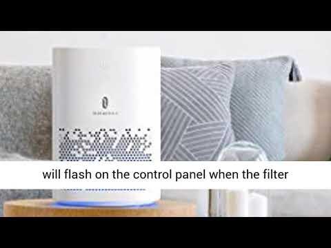 Taotronics air purifier for home, h13 cleaner hepa, cadr 150m³/h desktop filtration for bedroom