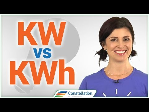 What is the difference between kw & kwh