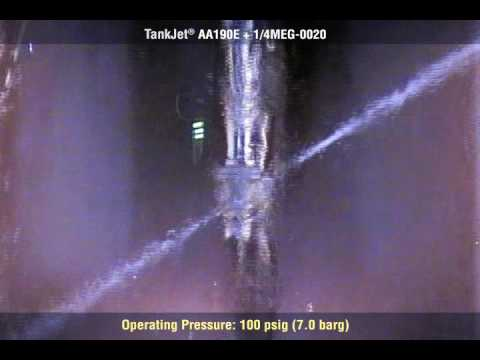 High impact tank cleaning with tankjet® aa190 tank cleaner from spraying systems