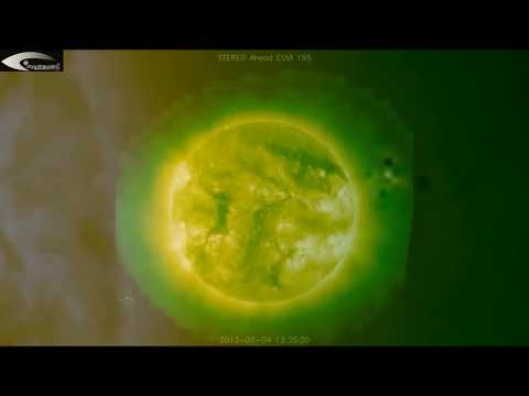 Ufos, anomalies and holograms on the surface of the sun and solar space - july 4, 2013