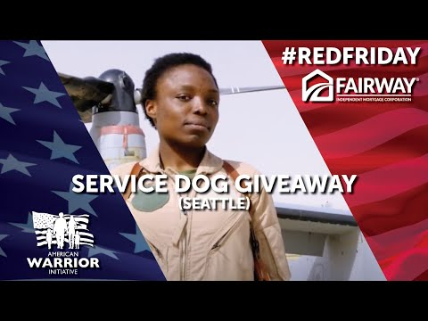 #redfriday service dog giveaway (seattle) - american warrior initiative (awi) | fairway mortgage