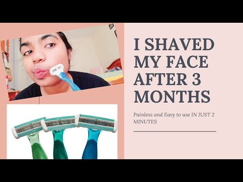 Upper lip hair removal  i shaved my face for instant glow at home   shaving