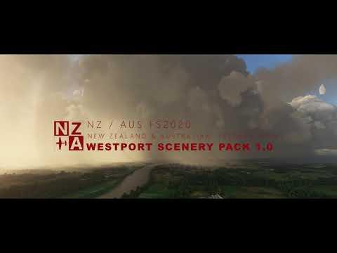 Nza simulations - nz & aus mfs2020 discord - westport scenery pack 1.0 - trailer 4k