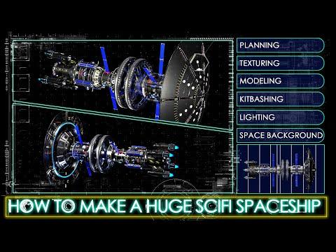 How i made a huge scifi spaceship in blender. breakdown tutorial