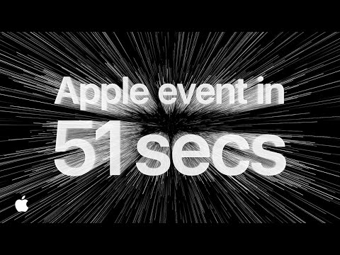 Apple event in 51 seconds