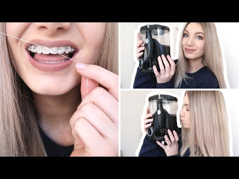 Flossing with braces   benefits of using a water flosser