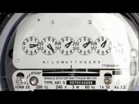 Reading your electric meter