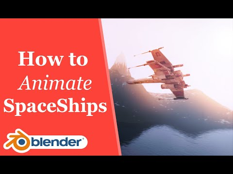 How to make a spaceship animation in blender - tutorial