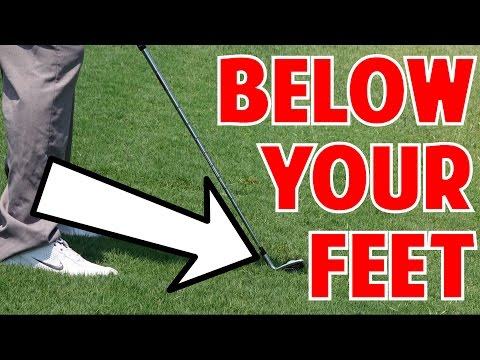 Golf tips | how to hit a ball below your feet