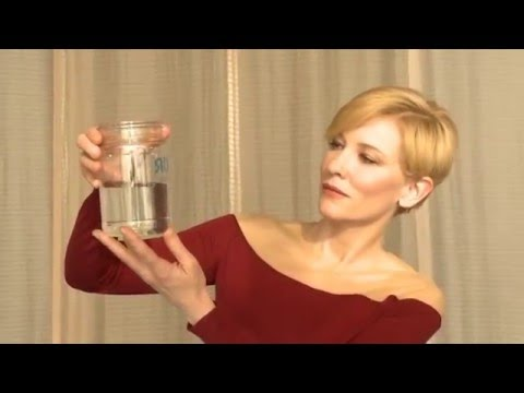 Cate blanchett purifies water with the p&g packet