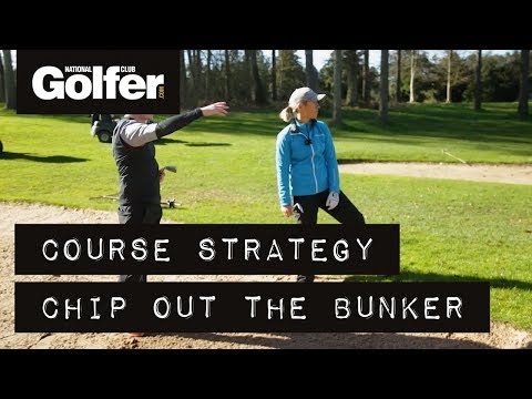 Course strategy: in a fairway bunker
