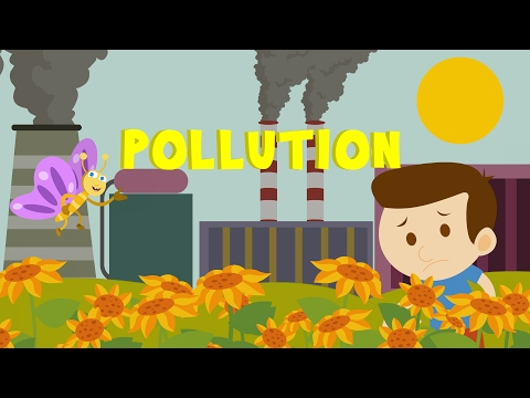 Learn about pollution | environment defilement | cartoon
