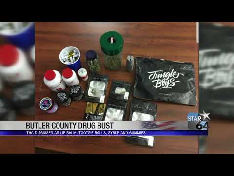 Thc cartridges, products disguised as tootsie rolls and lip balm seized in butler county
