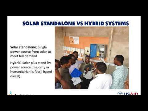 Solar powered water systems in humanitarian context – types and configurations