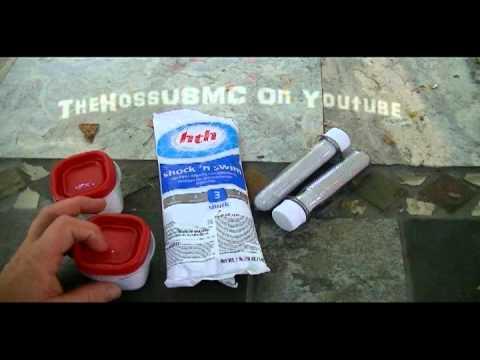 Water purification, pool shock