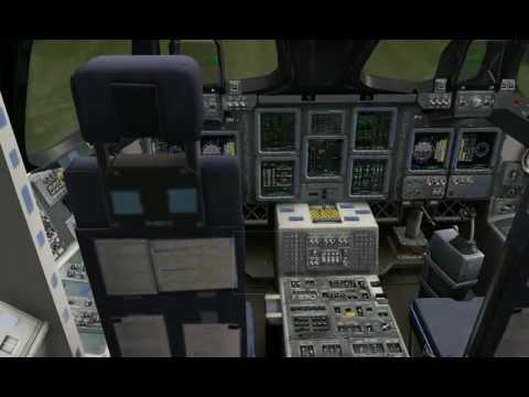 X-plane 10 - inside the space shuttle
