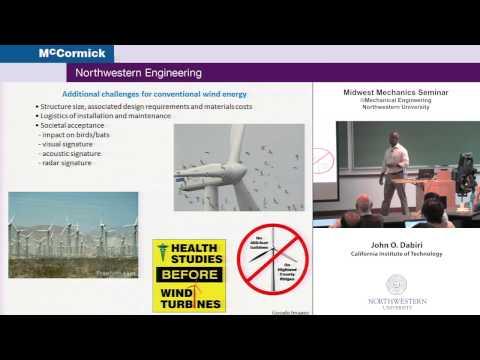 Midwest mechanics seminar presents john dabiri: bio-inspired wind energy