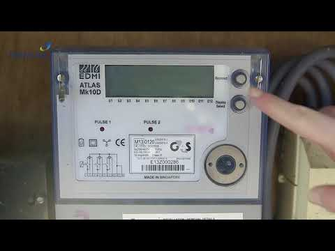 British gas business - how to read an electricity smart meter