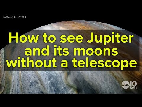 Jupiter is so close you can see its moons with just binoculars