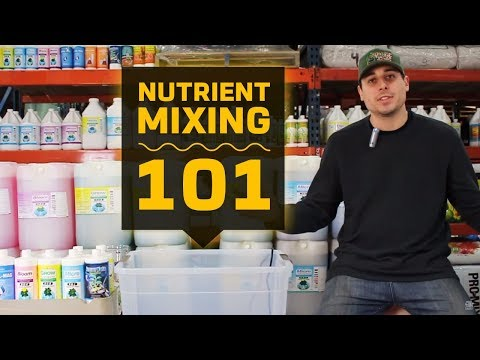 Nutrient mixing 101   hydroponic reservoir management   grow room tank mixing