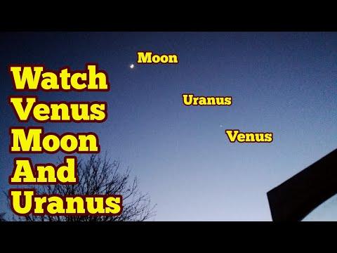Watch planets venus, uranus and the moon tonight