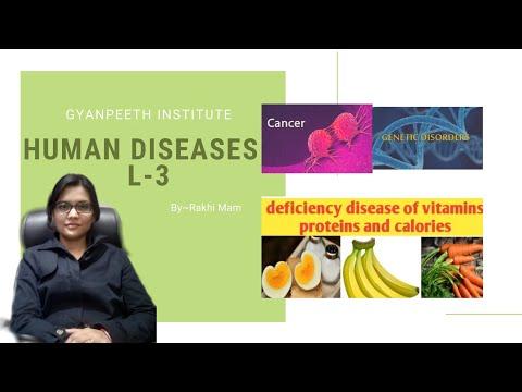Human diseases (genetic diseases , cancer , deficiency diseases ) मानव रोग l-3