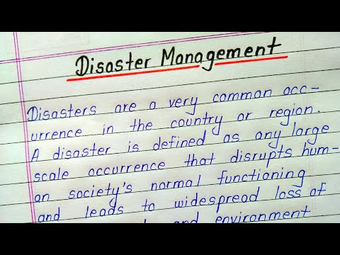 Essay on disaster management in english || disaster management essay writing