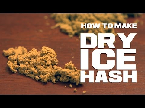 How to make hash/ kief with dry ice and cannabis - thc frozen co2 extraction
