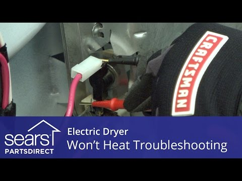Dryer won't heat: troubleshooting electric dryer problems