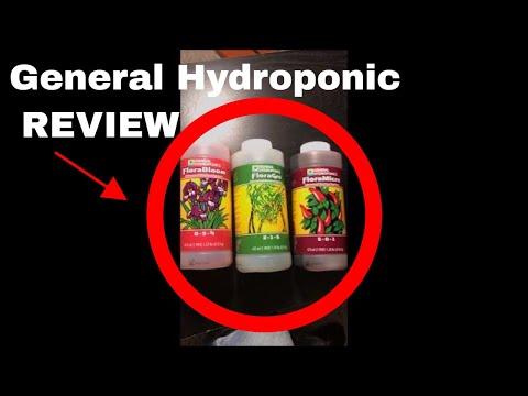 General hydroponics flora grow, bloom, and micro fertilizer set. (1 quart)