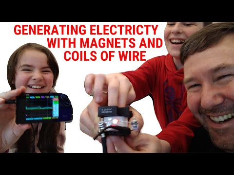 How you can produce electricity using a magnet and coil of wire. stem with tim