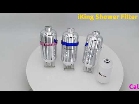 Iking 15 stage shower filter hard water with vitamin c mineral purifier, removes chlorine & fluoride